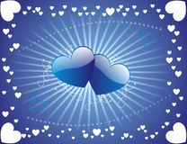 Valentines Background. Valentine's blue background, vector illustration Royalty Free Stock Image