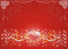 Valentines Background. Card, vector illustration Stock Photo