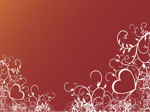 Valentines Background. Valentine's Day heart floral background with abstract Royalty Free Stock Photos
