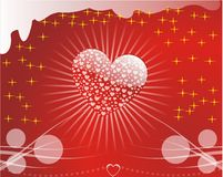 Valentines Background. Background with heart, vector illustration Stock Images