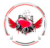 Valentines Background. With glossy red heart Royalty Free Stock Images