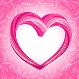 Valentines background, abstract pink heart shape Stock Photography