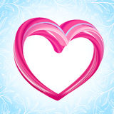 Valentines background, abstract pink heart shape Royalty Free Stock Photos