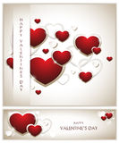 Valentines Background with Banner Royalty Free Stock Image