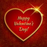Valentines background with big red heart. Stock Images