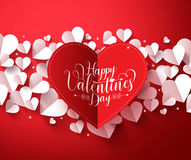 Valentines Background concept in red color with happy valentines day greetings card Royalty Free Stock Image