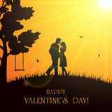 Valentines background with couple Stock Photography