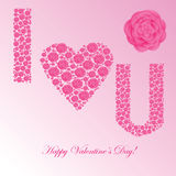 Valentines background with floral heart Royalty Free Stock Photography