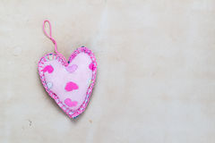 Valentines background  Handmade hearts old paper Royalty Free Stock Images