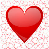 Valentines background with heart Royalty Free Stock Images