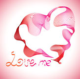 Valentines background with heart Stock Images