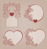 Valentines background heart floral motif Royalty Free Stock Images
