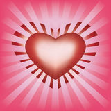 Valentines background with heart and rays Stock Photos