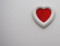Valentines background, heart, red and white. Top view of Valentine`s Day background Stock Images