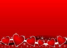Valentines background with hearts Royalty Free Stock Images