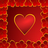 Valentines background with hearts Royalty Free Stock Photo