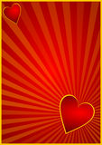 Valentines background with hearts Stock Photography