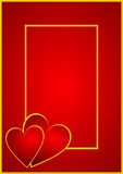 Valentines background with hearts Royalty Free Stock Photography