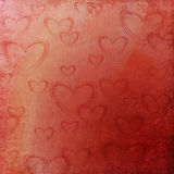 Valentines background with  hearts Stock Images