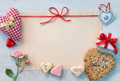 Valentines background with hearts Royalty Free Stock Image