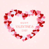 Valentines background with hearts and stars Stock Images