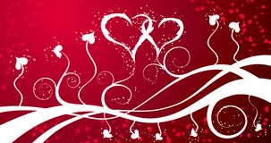 Valentines background with hearts, vector Stock Photos