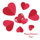 Valentines background with many hearts. Valentines background with few hearts n white phone Royalty Free Stock Photo