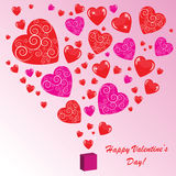 Valentines background with many hearts. Valentines background with hearts on pink phone Vector Illustration