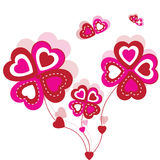 Valentines background with ornament Royalty Free Stock Image