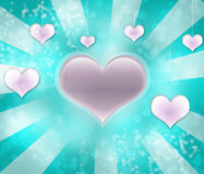 Valentines background. Pattern with blue and dark pink hearts Royalty Free Stock Photo