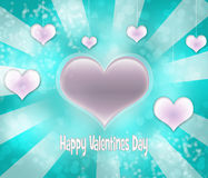 Valentines background. Pattern with blue and dark pink hearts Stock Images