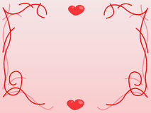 Valentines background. Pink decoration Stock Photography