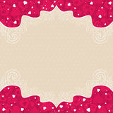 Valentines background with pink  hearts Stock Image