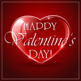 Valentines background with red heart Royalty Free Stock Photography