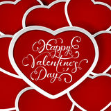 Valentines background with red hearts Royalty Free Stock Photos