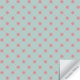 Valentines background repeating small red heart at corner of linear diamond shape on pale green background. With paper flip on right bottom corner. pattern is Royalty Free Stock Photography