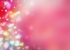 Valentines background.Romantic pink red illustration. Royalty Free Stock Photo
