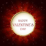 Valentines background with round banner Stock Images