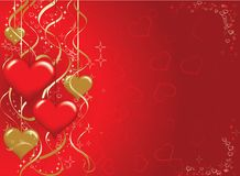 Valentines background, vector Royalty Free Stock Images