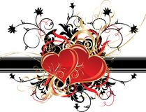 Valentines background, vector Stock Image