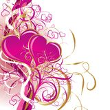 Valentines background, vector stock illustration