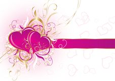Valentines background, vector Stock Photo