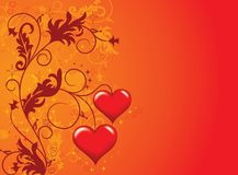 Valentines background, vector Royalty Free Stock Photography