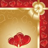 Valentines background, vector Stock Photography