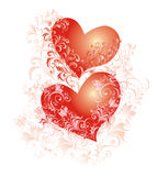 valentines background, vector illustration Royalty Free Stock Photo