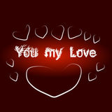 Valentines on background Royalty Free Stock Image