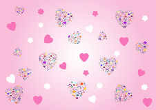 Valentines background - vector illustration. Stock Photos