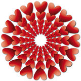Valentines backround with hearts stock image