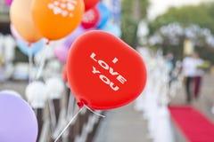 Valentines balloons Stock Image