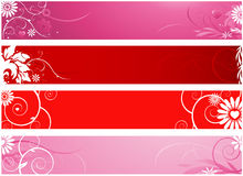 Valentines banners Stock Image